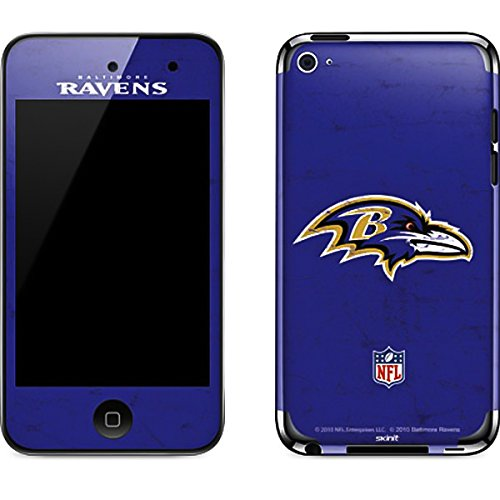 Baltimore Ravens Ipod Skin - NFL Baltimore Ravens iPod Touch (4th Gen) Skin - Baltimore Ravens Distressed Vinyl Decal Skin For Your iPod Touch (4th Gen)