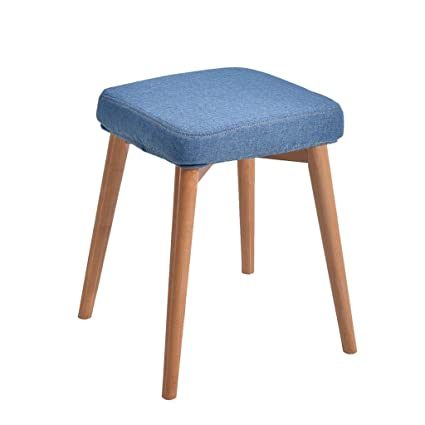 Amazon Household Dressing Stool Chair Nordic Solid Wood Stool Impressive Upholstered Chairs Dining Room Creative