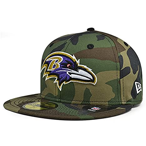 New Era Baltimore Ravens NFL Woodland Camo 59Fifty Fitted Hat (7 3 4) 844f2aa116bd