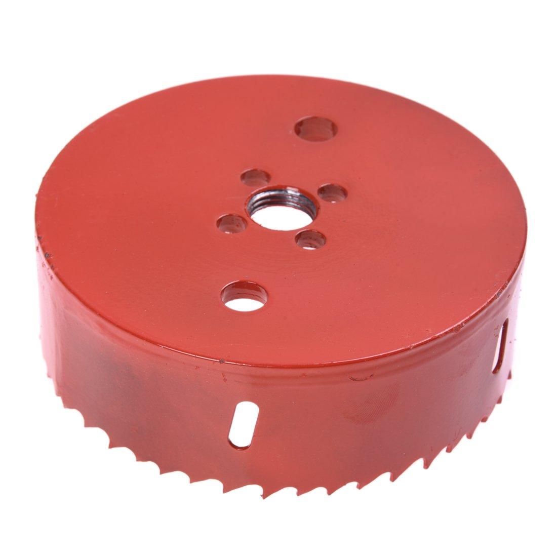 TOOGOO(R) 110mm diametre d'Appareil a percer un trou en metal Rouge et Noir SODIAL(R)