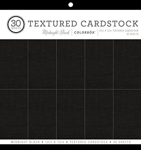 ColorBok 61241C Textured Cardstock Paper Pad Midnight Black, 12