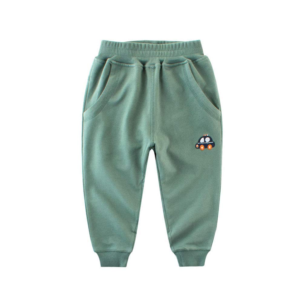 Boys Solid Cotton Car Style Warm Pants Toddler Baby Boy Active Sweatpants