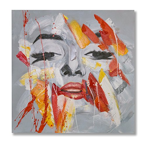 "Art Monroe Marilyn Canvas (In Liu Of | Modern Oil Painting on Canvas Marilyn Monroe ""Dreaming of Fame"" (Black and White) Hand-Painted, Fine Acrylic Artwork 