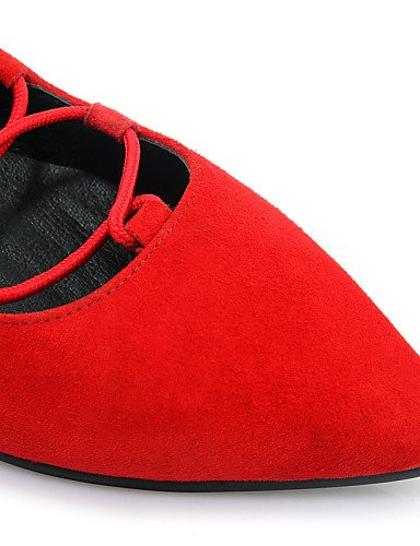 ZQ Plano Negro uk6 Rojo Zapatos cn39 eu39 eu39 Planos Casual red mujer uk6 us8 cn39 cn39 Comfort us8 Tac¨®n de black uk6 us8 eu39 Innovador red Cuero rArvwfqIx