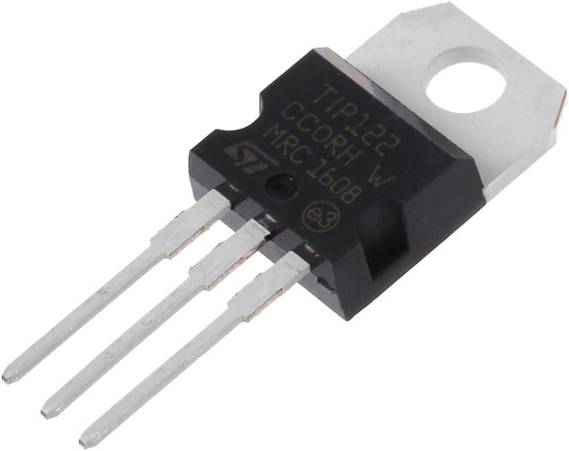 Senmubery 10 Pcs Trou a travers NPN Epitaxiale Transistor 100V 5A 40W TIP122
