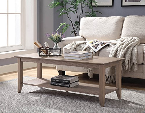 Convenience Concepts 7104088DFTW American Heritage Coffee Table, Driftwood ()