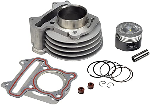 AlveyTech 72cc 47 mm High Performance Big Bore Cylinder Kit for 50cc QMB139 Scooter Engines
