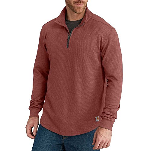 Carhartt Men's Tilden Long Sleeve Mock-Neck Quarter-Zip, Sable, Medium