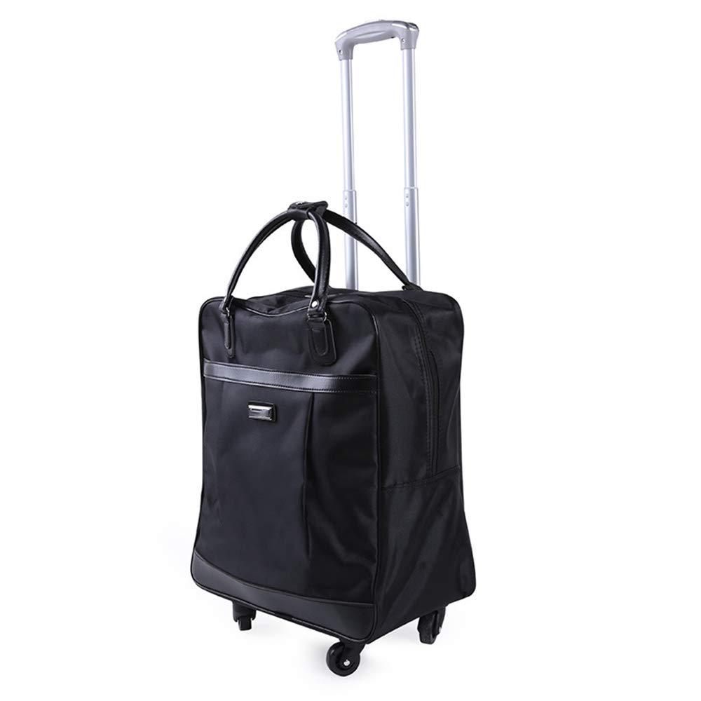 荷物スーツケース、ユニバーサルホイールトロリーケーストラベルバッグ、オックスフォード布ビジネス搭乗スーツケース、ポータブル多機能ハンドトラック(多色オプション),A B07SND2S25 A