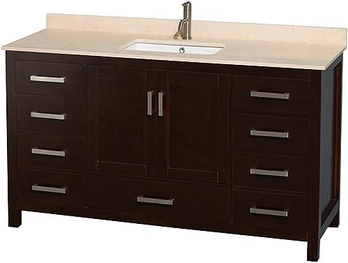 Wyndham Collection Sheffield 60 inch Single Bathroom Vanity
