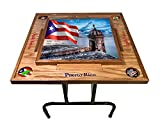 Puerto Rico Domino Table with the Morro (Natura)