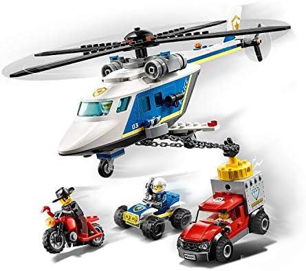 LEGO City 60243 Verfolgungsjagd mit dem Polizeihubschrauber, Quad, Motorrad und Pickup