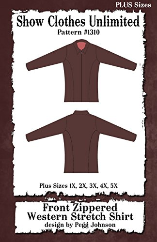 1310 - Plus Sized Western Princess Seamed Front Zip Stretch Shirt ()