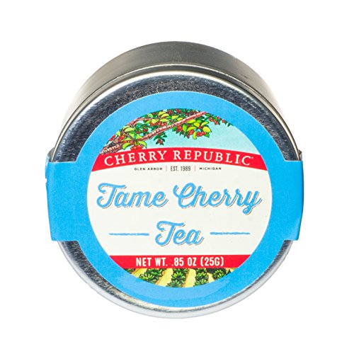 Cherry Republic Tame Cherry Tea - Black Tea Blend with Tame Cherries - Herbal Tea with Authentic Michigan Cherries, Herbs & Spices - Tame Cherry Flavored Black Tea - Cherry Flavored Teas - 10 Count (Tea Stash Powder Green Blueberry)