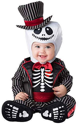 InCharacter Lil Skeleton Infant Costume-X-Small (0-6) Black/Red -