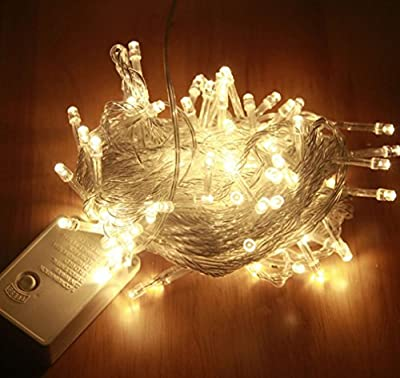33ft 100 LED String Lights with Controller Christmas String lights Fairy Twinkle Decorative Lights for Kids Bedroom,Wedding,Christmas Tree,Festival Party,Garden,Patio