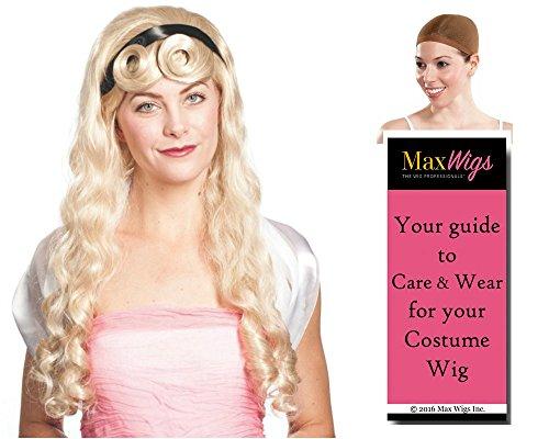 Aurora Sleeping Beauty color BLONDE - Enigma Wigs Fairytale Briar Rose Princess Grimm Bundle w/Cap, MaxWigs Costume Wig Care Guide -
