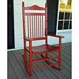 Standard Slat Porch Rocking Chair in Red Finish 533644