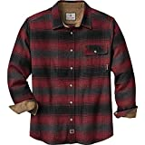 Legendary Whitetails Men's Buck Camp Flannel Shirt (Cabin Fever Plaid, X-Large Tall)