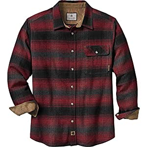 Legendary Whitetails Men's Buck Camp Flannel Shirt (Cabin Fever Plaid, Large)
