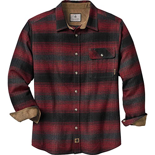 Legendary Whitetails Men's Buck Camp Flannel Shirt (Cabin Fever Plaid, Large Tall)
