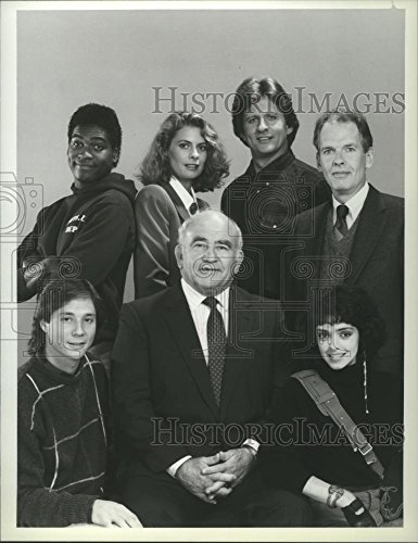 1987 Press Photo Ed Asner, Jerry Levine, Kathryn Harrold & cast of The Bronx Zoo - Kathryn Cast