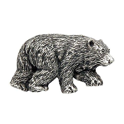 (Wild Things Large Sterling Silver Walking Bear Pendant)