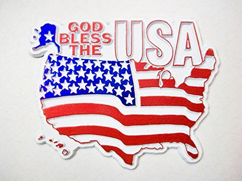 God Bless the USA Flag Fridge (Flag Fridge Magnet)