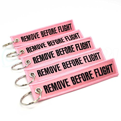 Rotary13B1 - Remove Before Flight Key Chain - 5pcs - Pink (Remove Before Flight Clothes)
