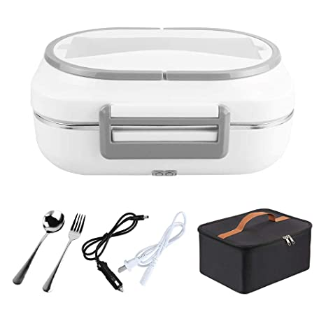 Amazon.com: IXI - Fiambrera eléctrica portátil 2 en 1 con ...