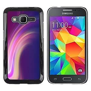 TopCaseStore / la caja del caucho duro de la cubierta de protección de la piel - Lines Purple Pink Yellow - Samsung Galaxy Core Prime SM-G360