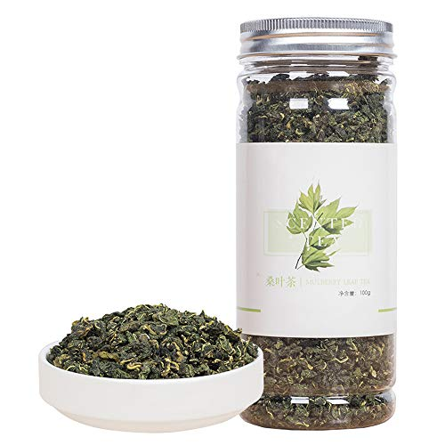 Natural Mulberry Leaf Tea,Organic Sun-Dried Mulberry Loose Leaves,Loose Leaf Tea,Slice Chinese Flora Herbal,Sang Ye-100G
