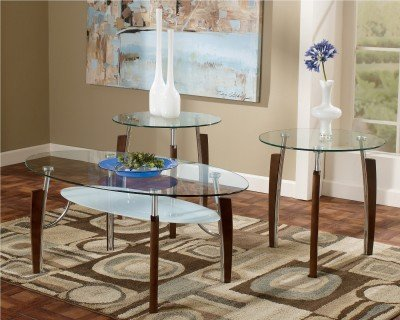 3 Piece Glass Top Coffee Table Sets.Ashley Furniture Signature Design Avani Occasional Table Set End Tables And Coffee Table 3 Piece Oval Glass Top With Nickel Base