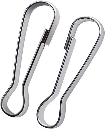 100 piece Stainless Steel Lanyard Hooks 30mm
