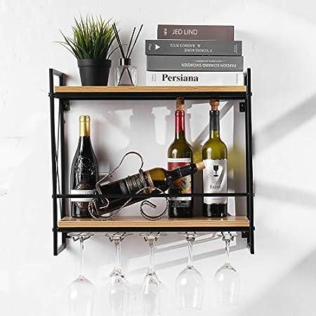 ★DISEÑO EXQUISITO - Este botellero de vino se ve más elegante y hermoso con un creativa estructura t