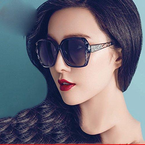 Gafas Marea Solar Delgado Gafas Femeninas Protector Redonda era de Gafas Estrellas WCP de Sol A Sol de Bingbing A Fan BXH UV Cara Sol TCpxRqpU