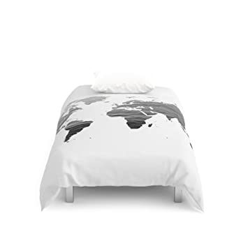 Amazon society6 world map ocean texture black and white society6 world map ocean texture black and white duvet covers twin 68quot gumiabroncs Image collections