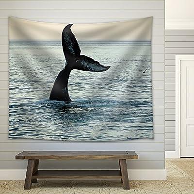 Fin of a Humpback Whale Fabric Wall Medium