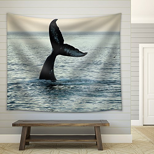 Fin of a Humpback Whale Fabric Wall