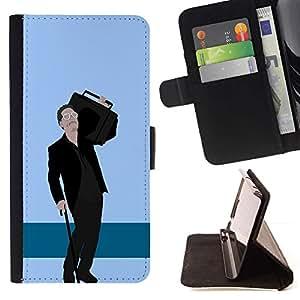 Momo Phone Case / Flip Funda de Cuero Case Cover - Altavoz de la música Big Man Parodia de gangsters Caricatura - Samsung Galaxy J3 GSM-J300