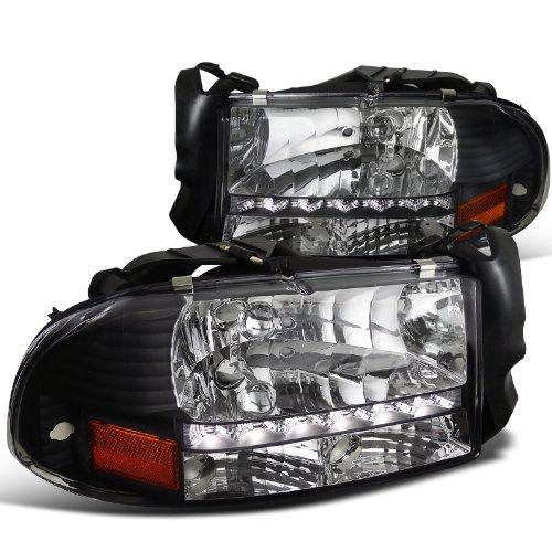 Dodge Durango Slt (Spec-D Tuning 2LH-DAK97JM-RS Dodge Dakota/ Durango Slt Led Headlights Black Left + Right)