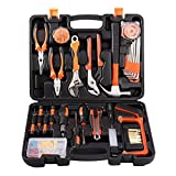 Tool Kit 100 Piece Tool Set DIY Home Household Tool Box with Precision Tools Combination Pliers for Men or Ladies