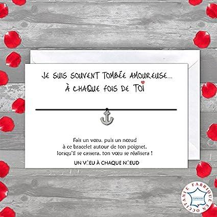 Tarjeta De Saludo Je Suis Amoureuse Pulsera Suerte 1 Ancla