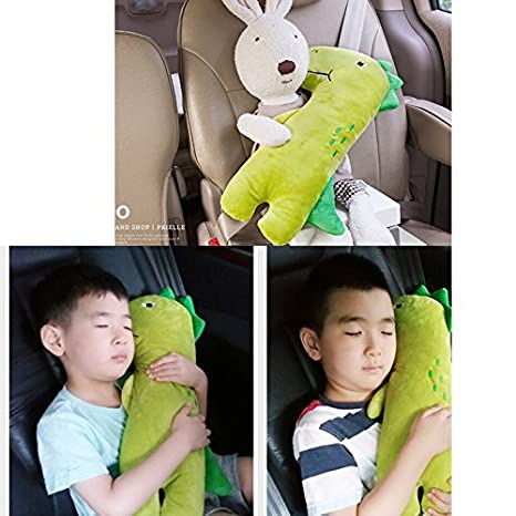 Cute Doll Car Seat Strap Belt Toy Cushion Cover for Kids Children, Auto Adjustable Pillow Pad Vehicle Car Safety Belt Toy Protect Shoulder Chest Child (Donkey) DecooneKorea