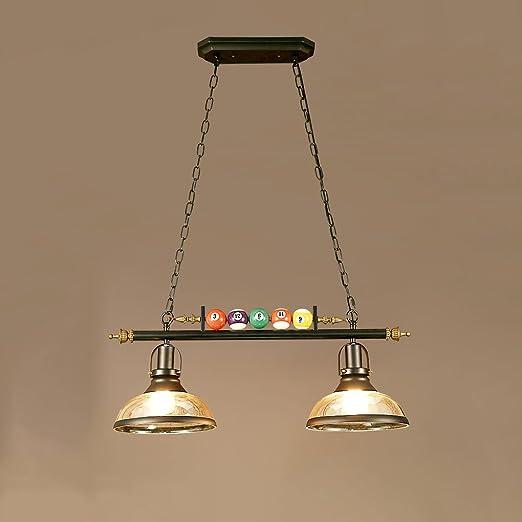 YCLED Loft Araña con Resina Billar Lámpara Colgante Decorativa ...