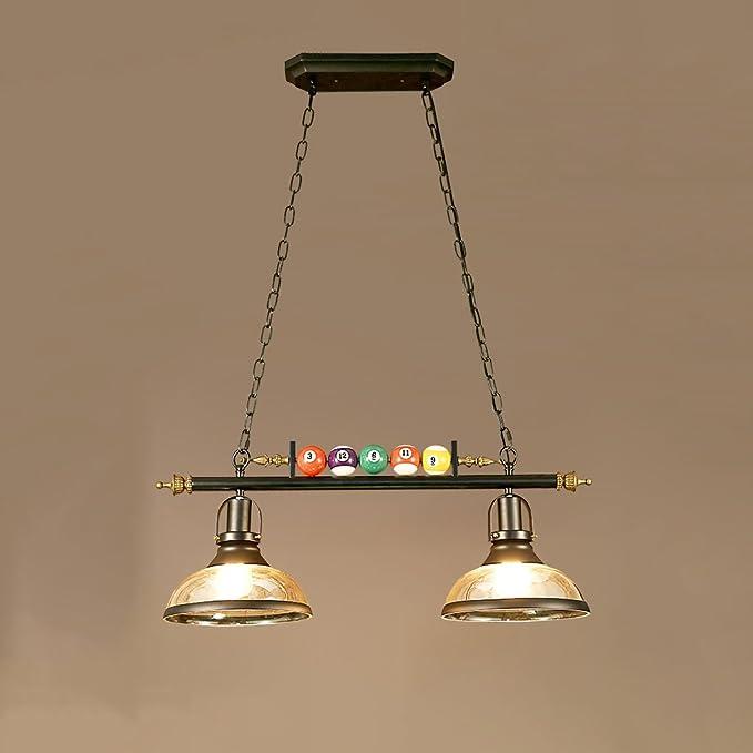 YCLED Loft Araña con Resina Billar Lámpara Colgante Decorativa Lámparas Creativas Cafetería Restaurante Ropa Shop Decorado Arañas industriales Retro (Size : 2-Lights): Amazon.es: Hogar