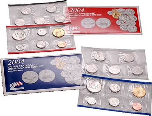 2004 P 2004 U.S. Mint - 22 Coin Uncirculated Set with CoA Uncirculated