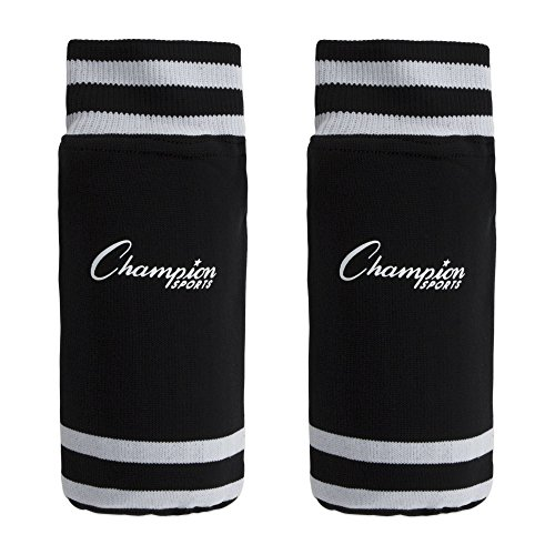 Champion Sports Youth Sock Style Soccer Shin Guards - Ages 4-6 Color: Black (SL4B) ()