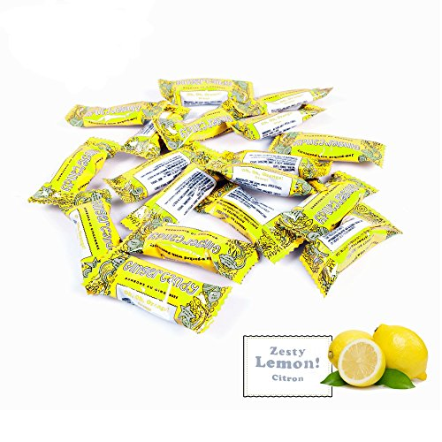 Gem Gem Ginger Candy Chewy Ginger Chews (Lemon, 1 Pound Bulk Pack)