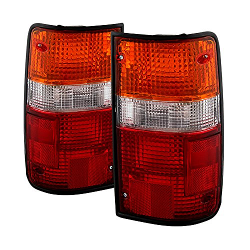 VIPMOTOZ For 1989-1995 Toyota Pickup Truck OE-Style Red Amber Lens Tail Light Housing Lamp Assembly Replacement Driver & Passenger Side
